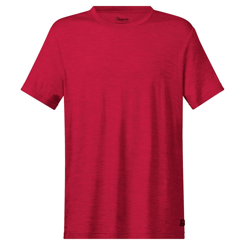 Мъжка тениска от мерино вълнa Bergans Oslo Wool Tee Red 2020