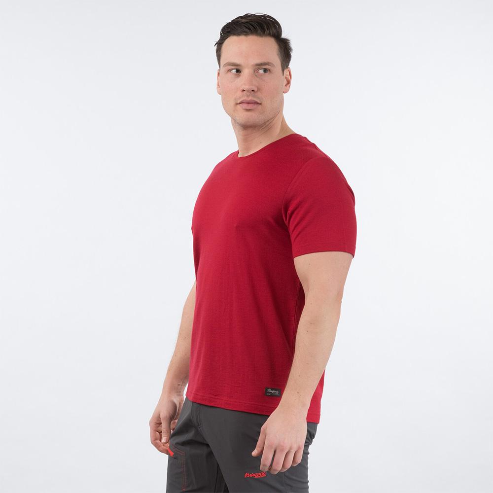 Side Bergans Oslo Wool Tee Red 2020