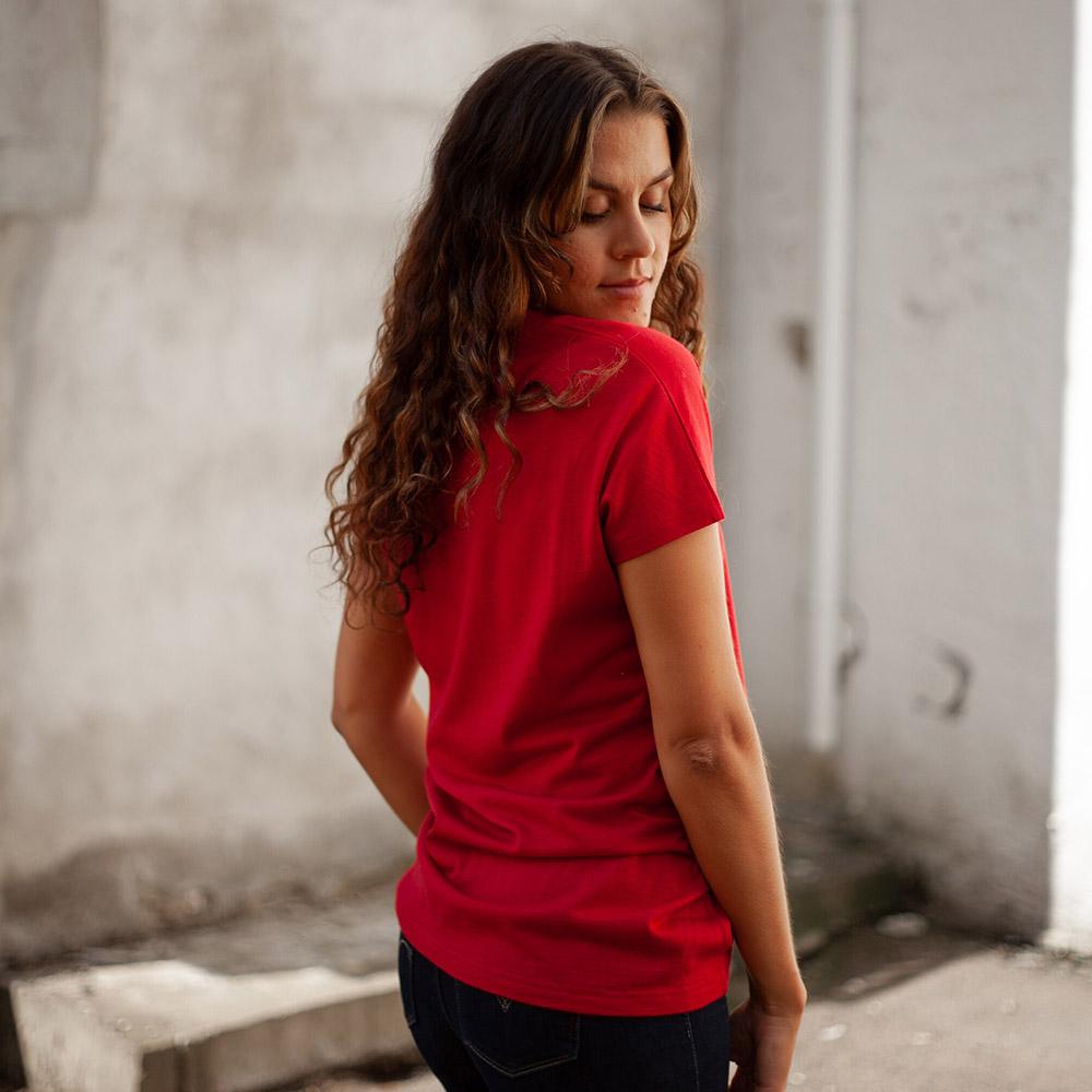 Профил на тениска от мерино вълнa Bergans Oslo Wool W Tee Red 2020