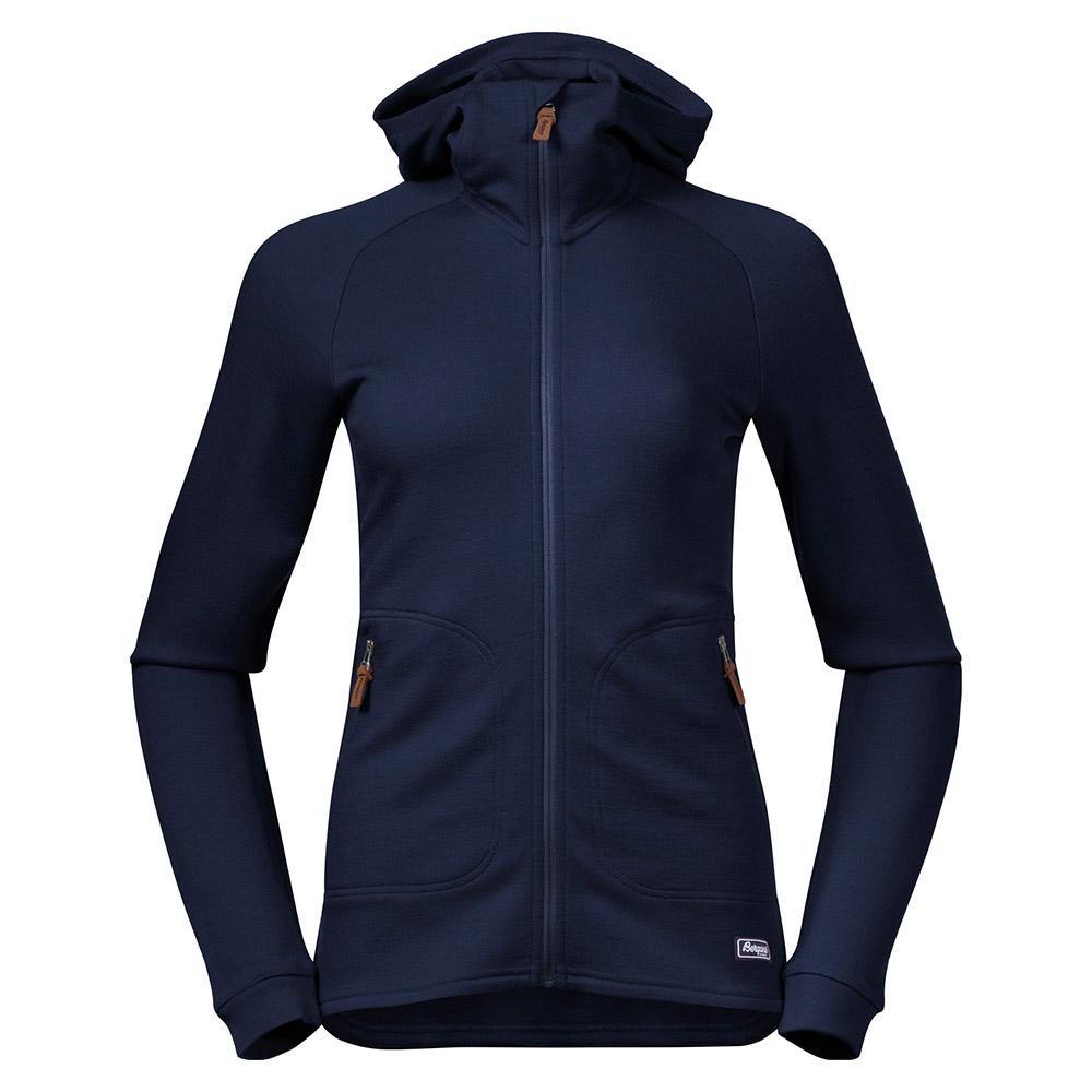 Дамско яке от мерино вълна Bergans Tuva Light Wool Hood W Navy 2020