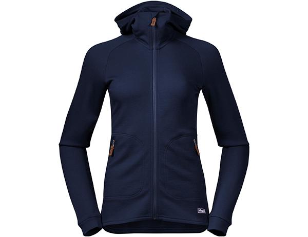 Bergans Tuva Light Wool Hood W Jacket Navy 2021