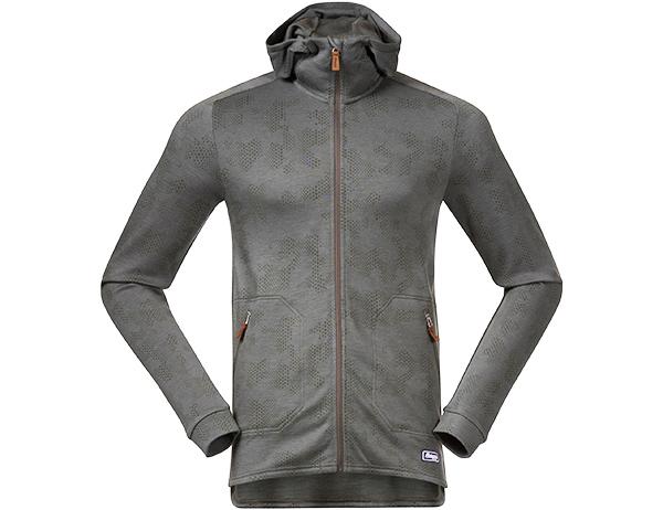 Мъжко яке от мерино вълна Bergans Tuva Light Wool Hood Green Mud Camo 2020