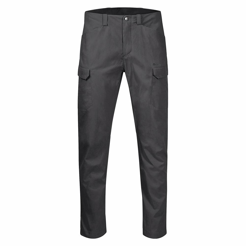Мъжки туристически софтшел панталон Bergans Utne Solid Charcoal 2020