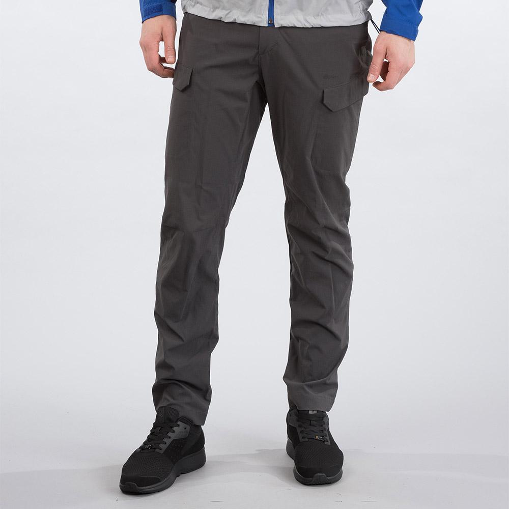 Лице на мъжки туристически софтшел панталон Bergans Utne Solid Charcoal 2020