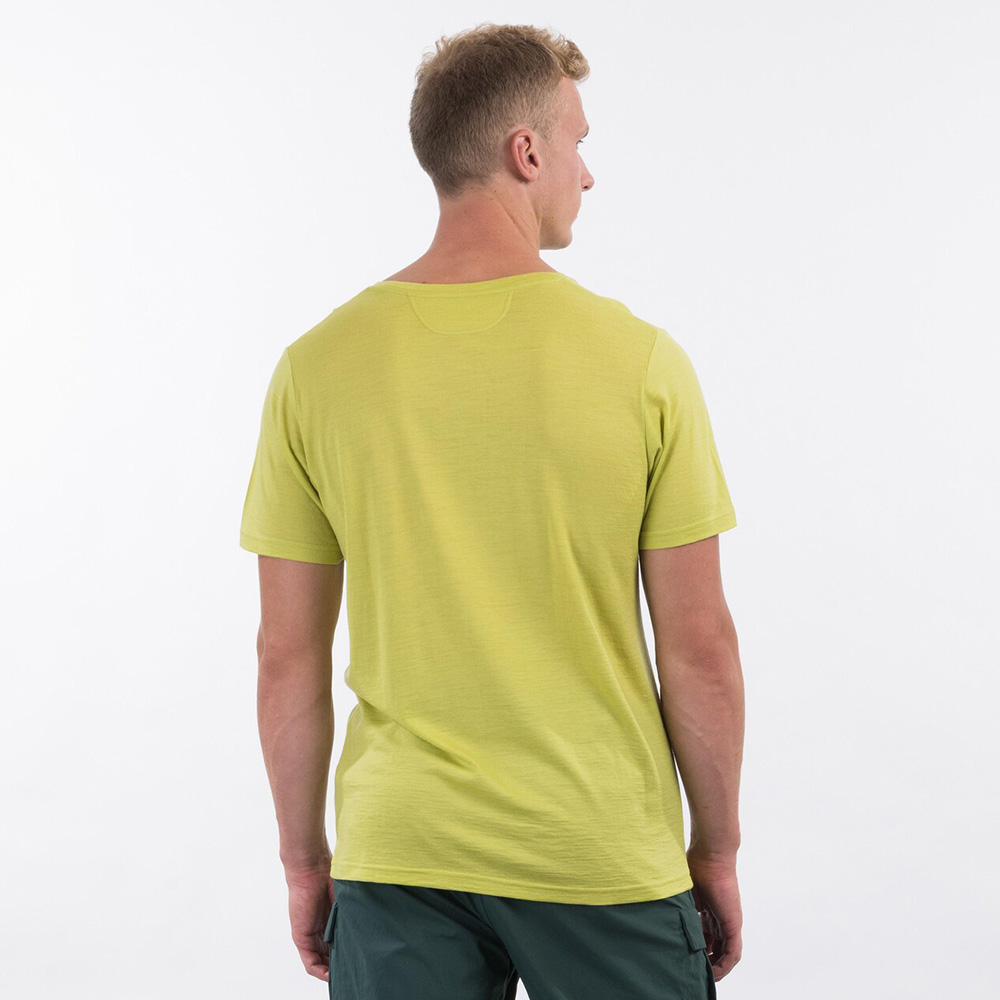 Back Bergans Backpack Wool Tee Green Oasis