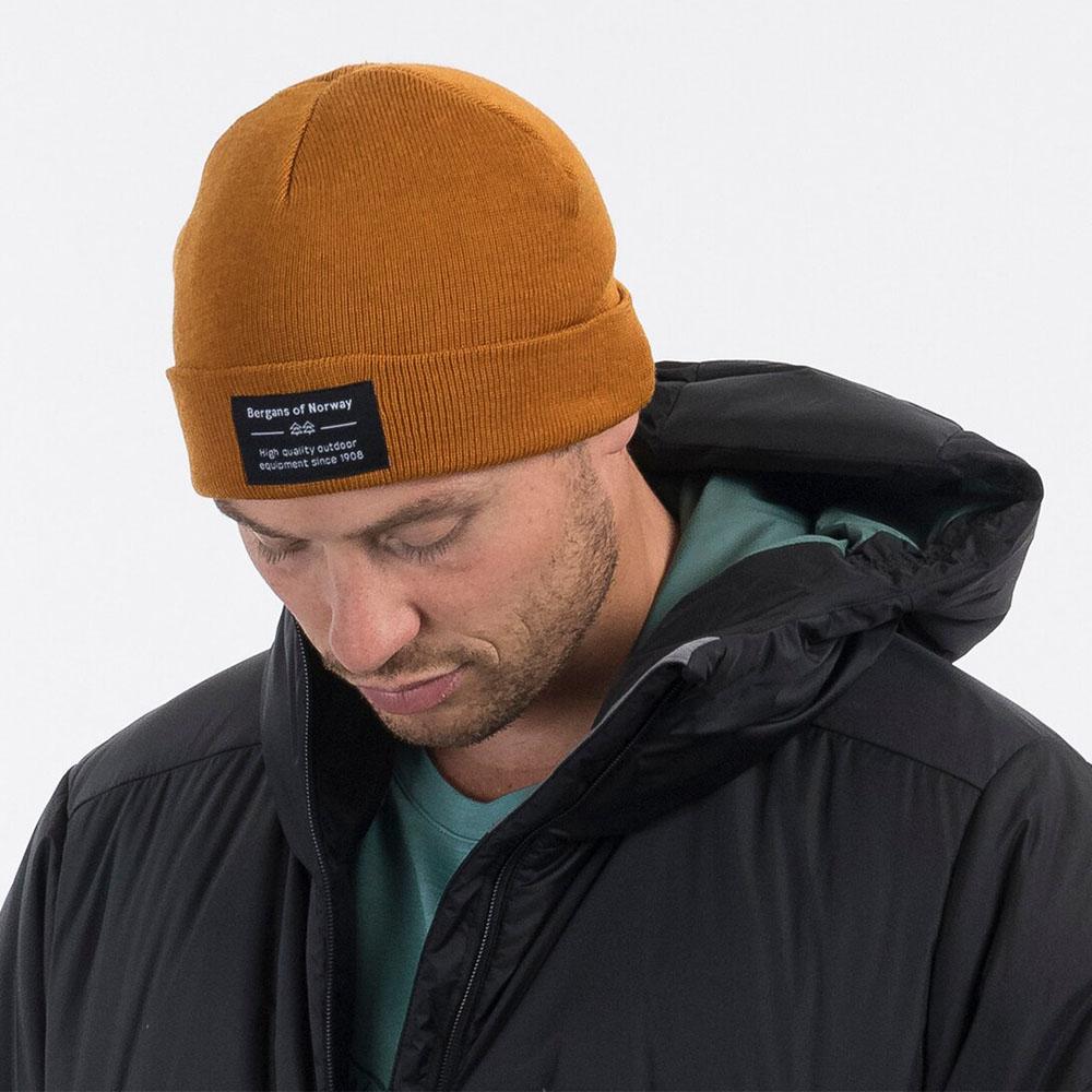 Шапка Bergans Fine Knit Beanie Light Inca Gold 2021