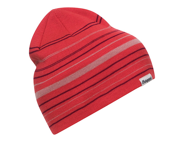 Bergans Striped Youth Beanie Light Dahlia Red / Beet Red 2021