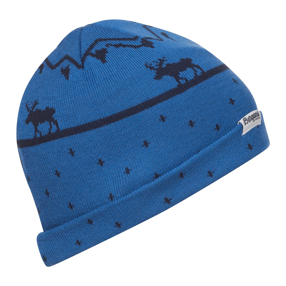 Детска шапка Bergans Mountain Moose Kids Beanie Strong Blue 2021