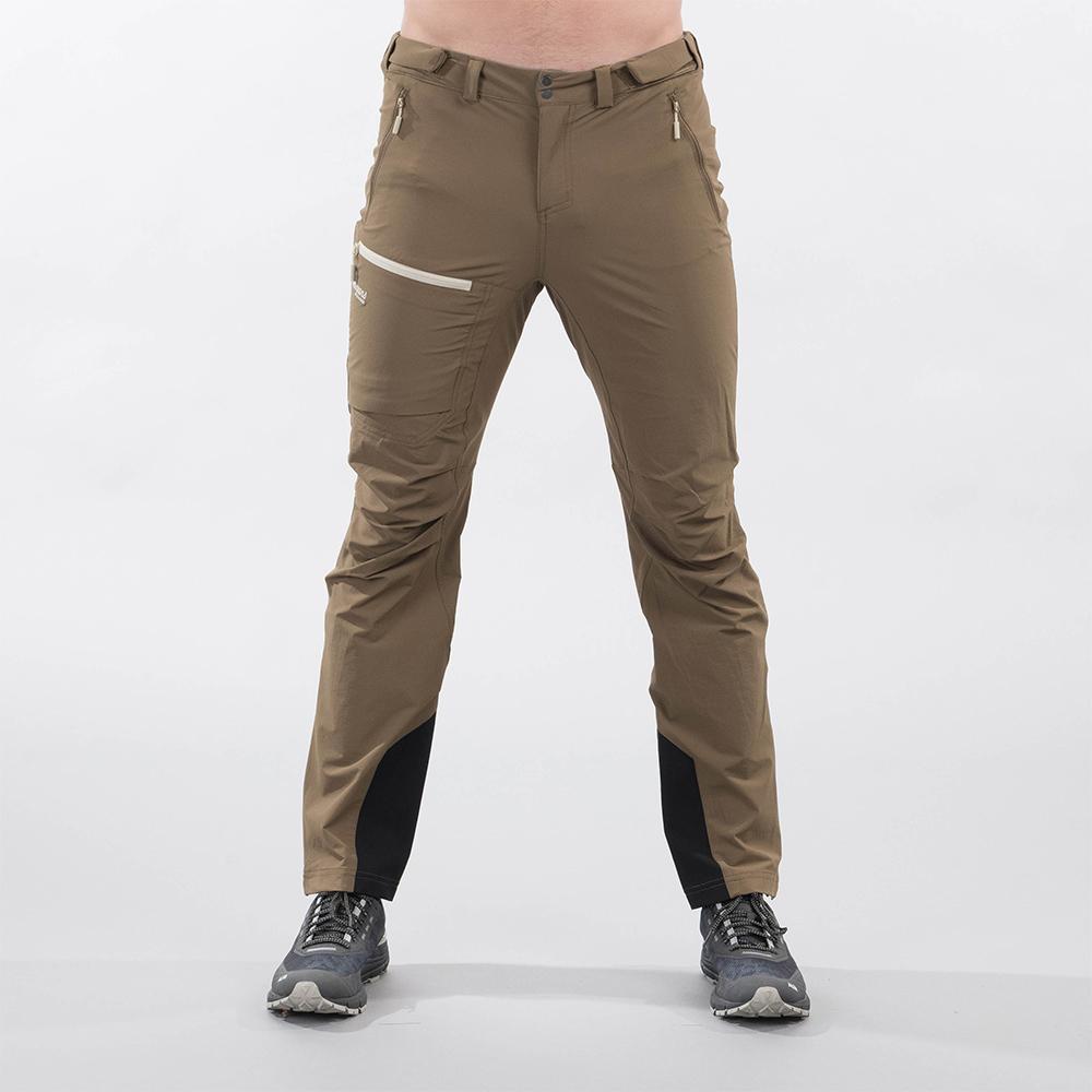 Лице на мъжки туристически софтшел панталон Bergans Breheimen Forest Brown 2021