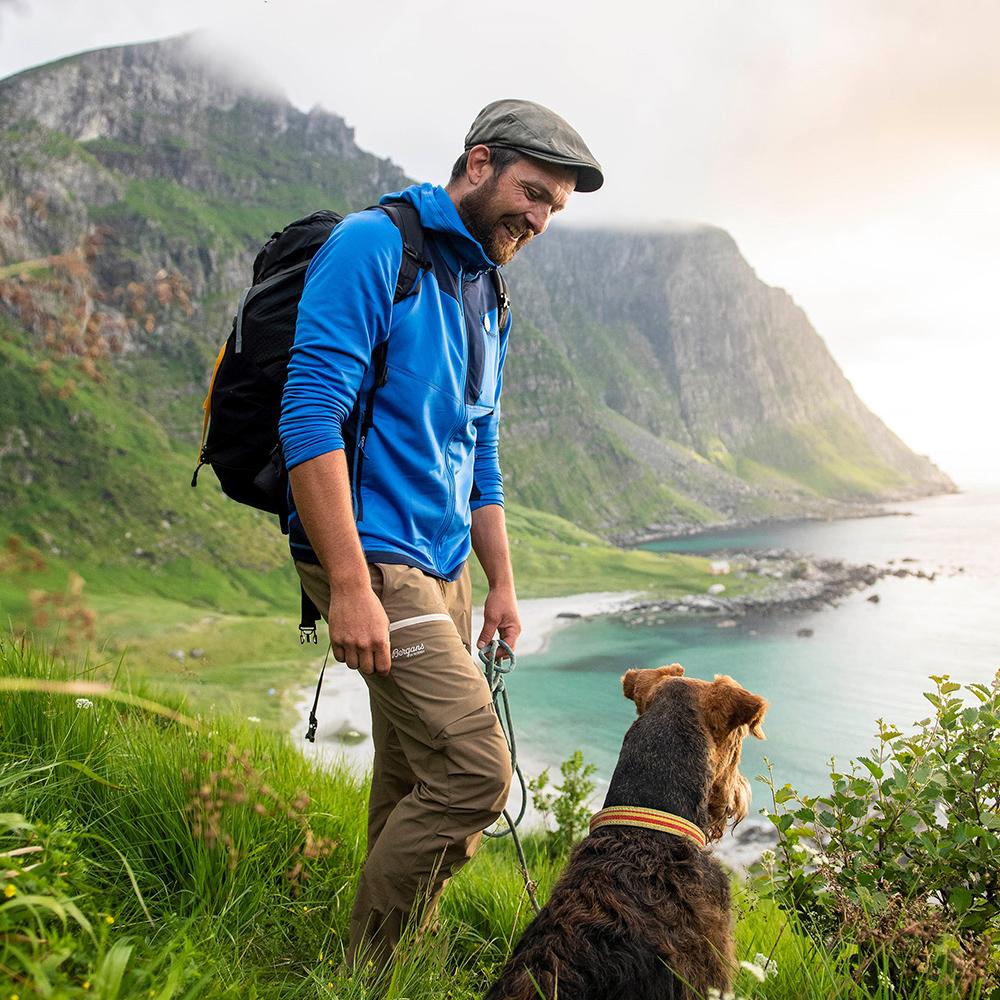 Трекинг с мъжки туристически софтшел панталон Bergans Breheimen Forest Brown 2021