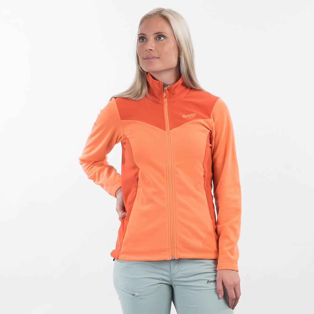 Лице на дамски полар Bergans Finnsnes Fleece W Cantaloupe / Brick 2021