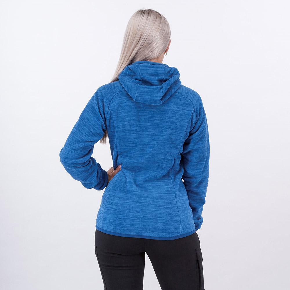 Гръб на дамско поларено яке Bergans Hareid Fleece W Jacket Dark Riviera Blue 2021