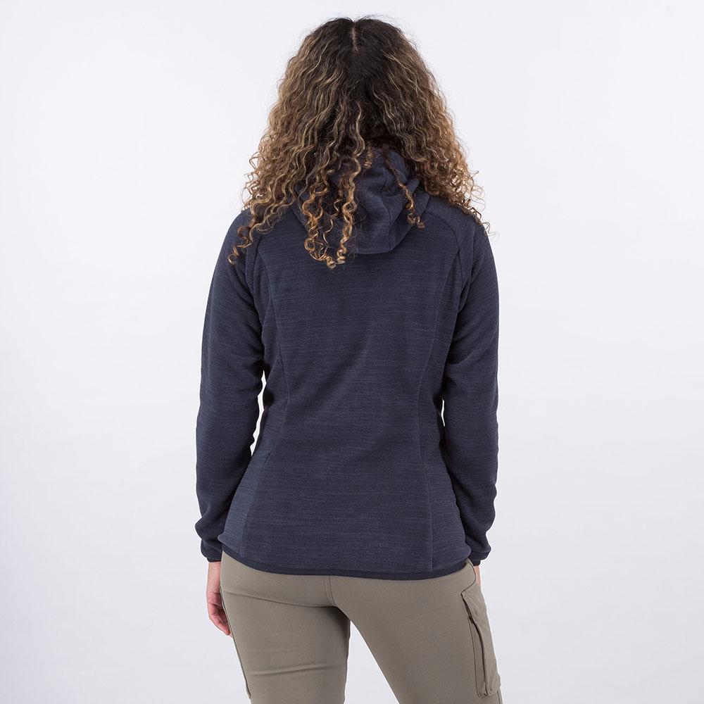 Гръб на дамско поларено яке Bergans Hareid Fleece W Jacket Dark Navy Melange 2021