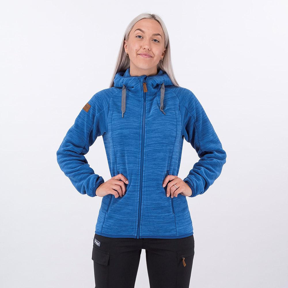 Лице на дамско поларено яке Bergans Hareid Fleece W Jacket Dark Riviera Blue 2021