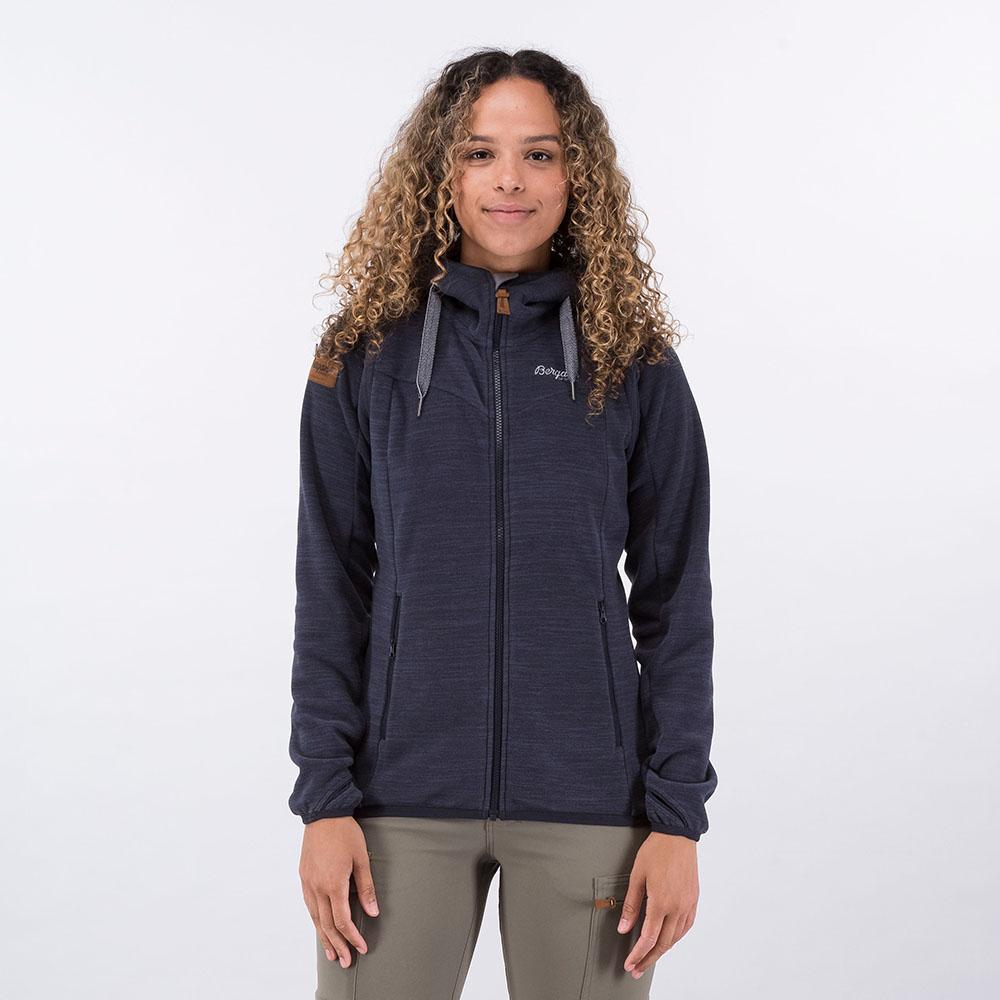 Лице на дамско поларено яке Bergans Hareid Fleece W Jacket Dark Navy Melange 2021