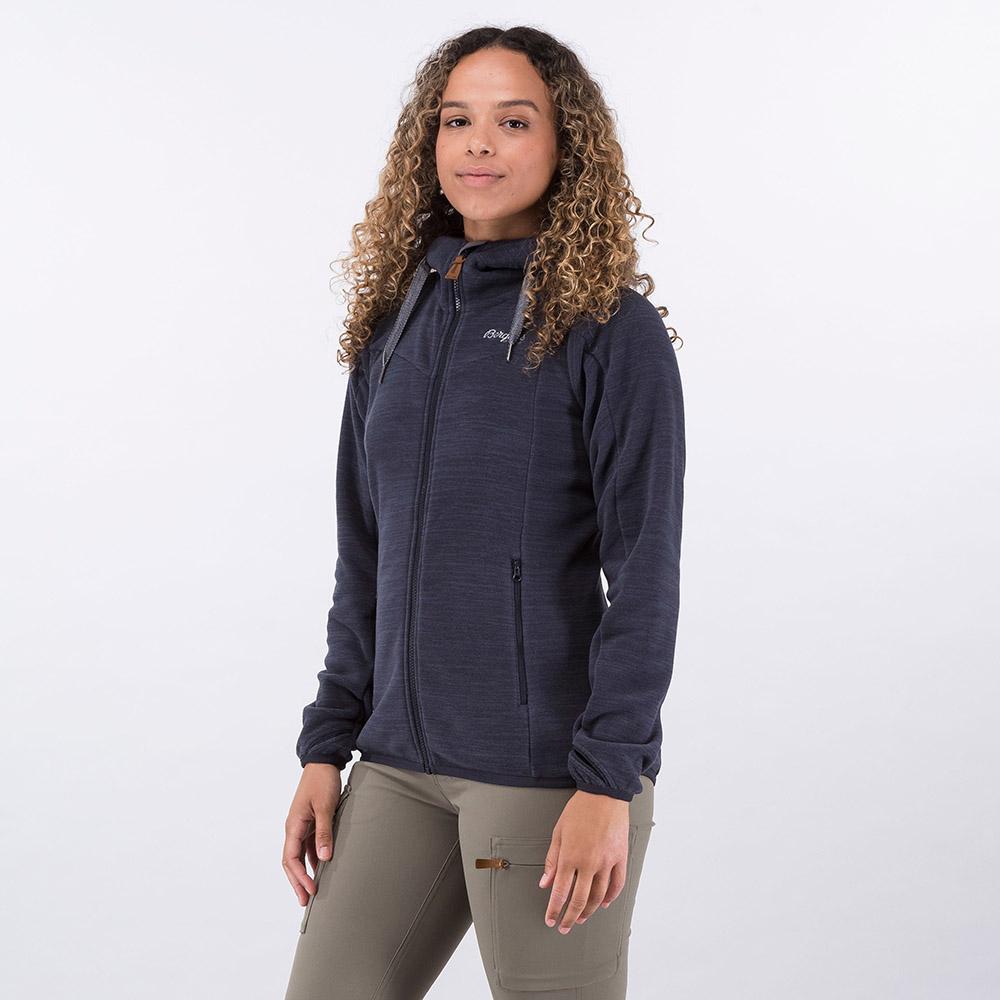 Профил на дамско поларено яке Bergans Hareid Fleece W Jacket Dark Navy Melange 2021