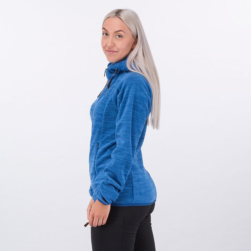 Профил на дамско поларено яке Bergans Hareid Fleece W Jacket Dark Riviera Blue 2021