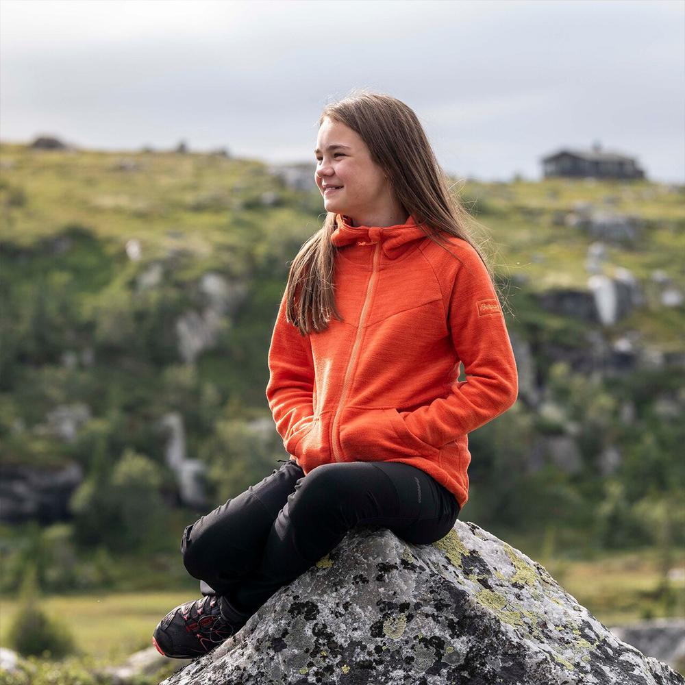 Into nature Bergans Hareid Youth Jacket Orange