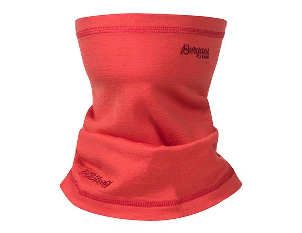 Детски шал от мерино вълна Bergans Wool Junior Neck Warmer Light Dahlia Red 2021