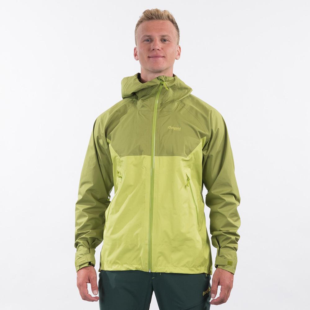 Front Bergans Letto V2 3L Jacket Green Oasis 2021