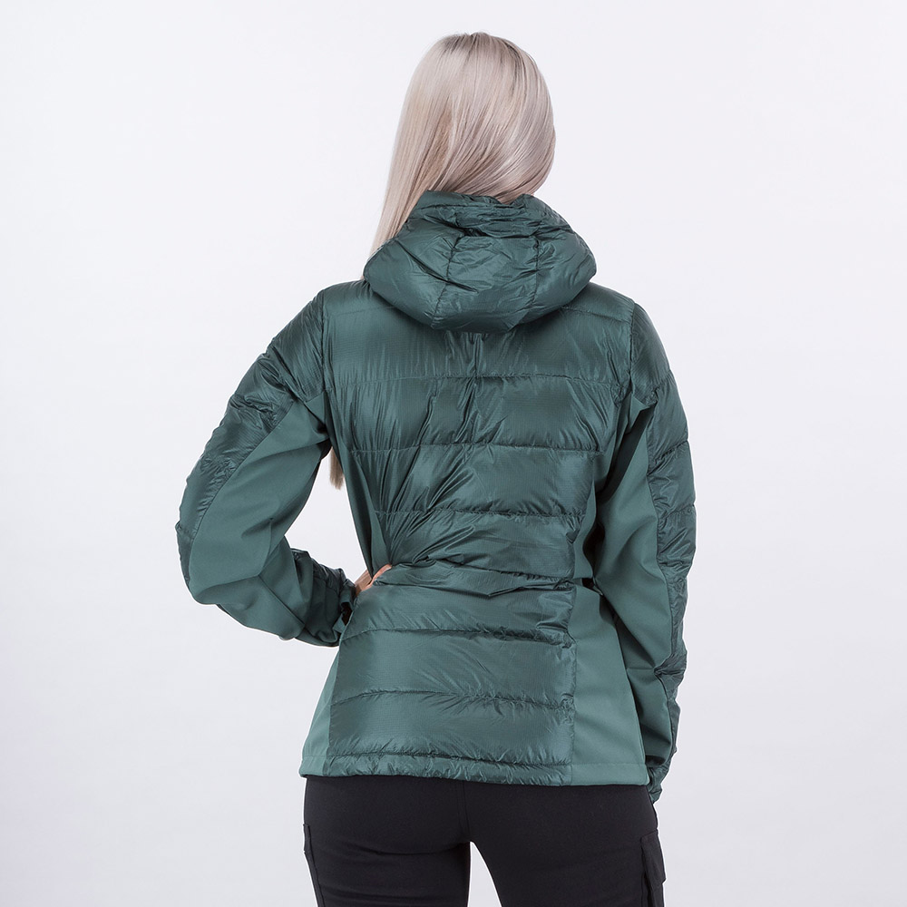 Гръб на дамско пухено яке Bergans Myre Down Lady Jacket Forest Frost