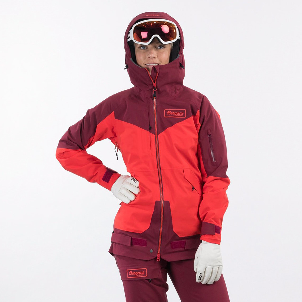 Дамско ски яке с изолация Bergans Myrkdalen V2 Insulated W Jacket Dahlia Red / Beet Red 2021