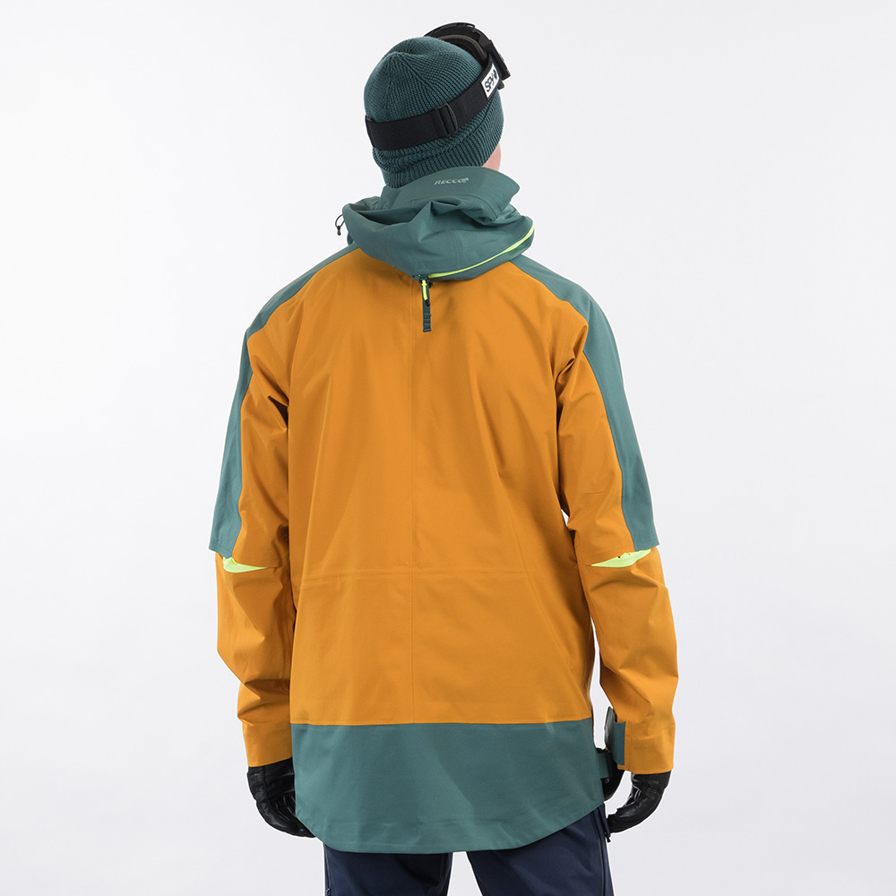 Гръб на ски яке Bergans Myrkdalen V2 3L Jacket Inca Gold / Forest Frost 2021