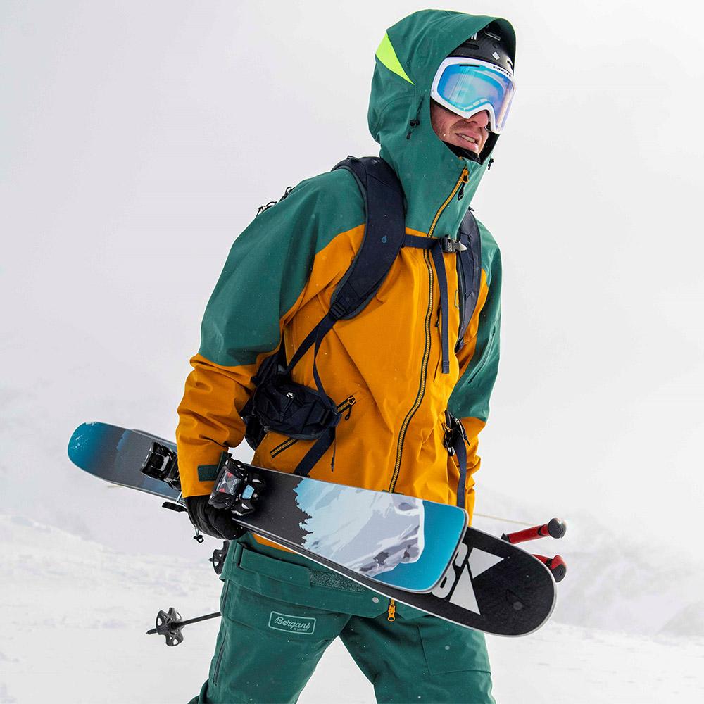 По пистата със ски яке Bergans Myrkdalen V2 3L Jacket Inca Gold / Forest Frost 2021