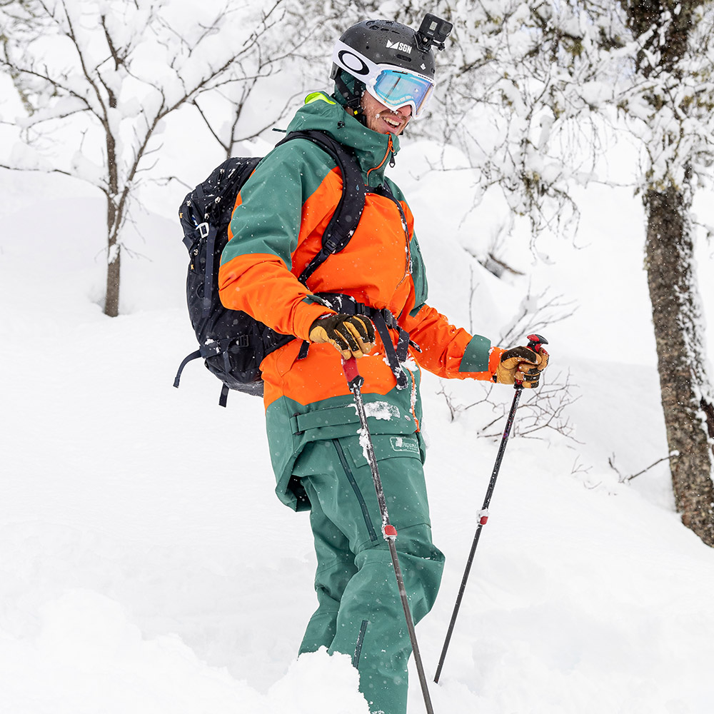 На пистата с Bergans Myrkdalen V2 Insulated Jacket Bright Magma / Forest Frost 2021