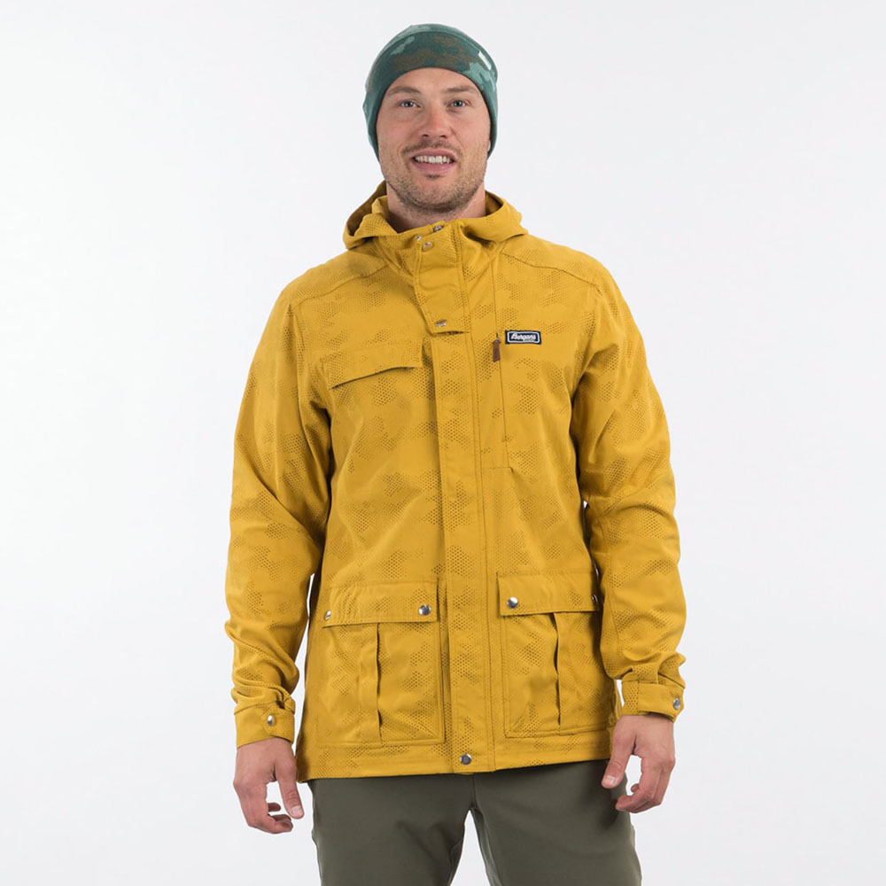 Лице на мъжко яке Bergans Nordmarka Jacket Mustard Yellow Camo 2021