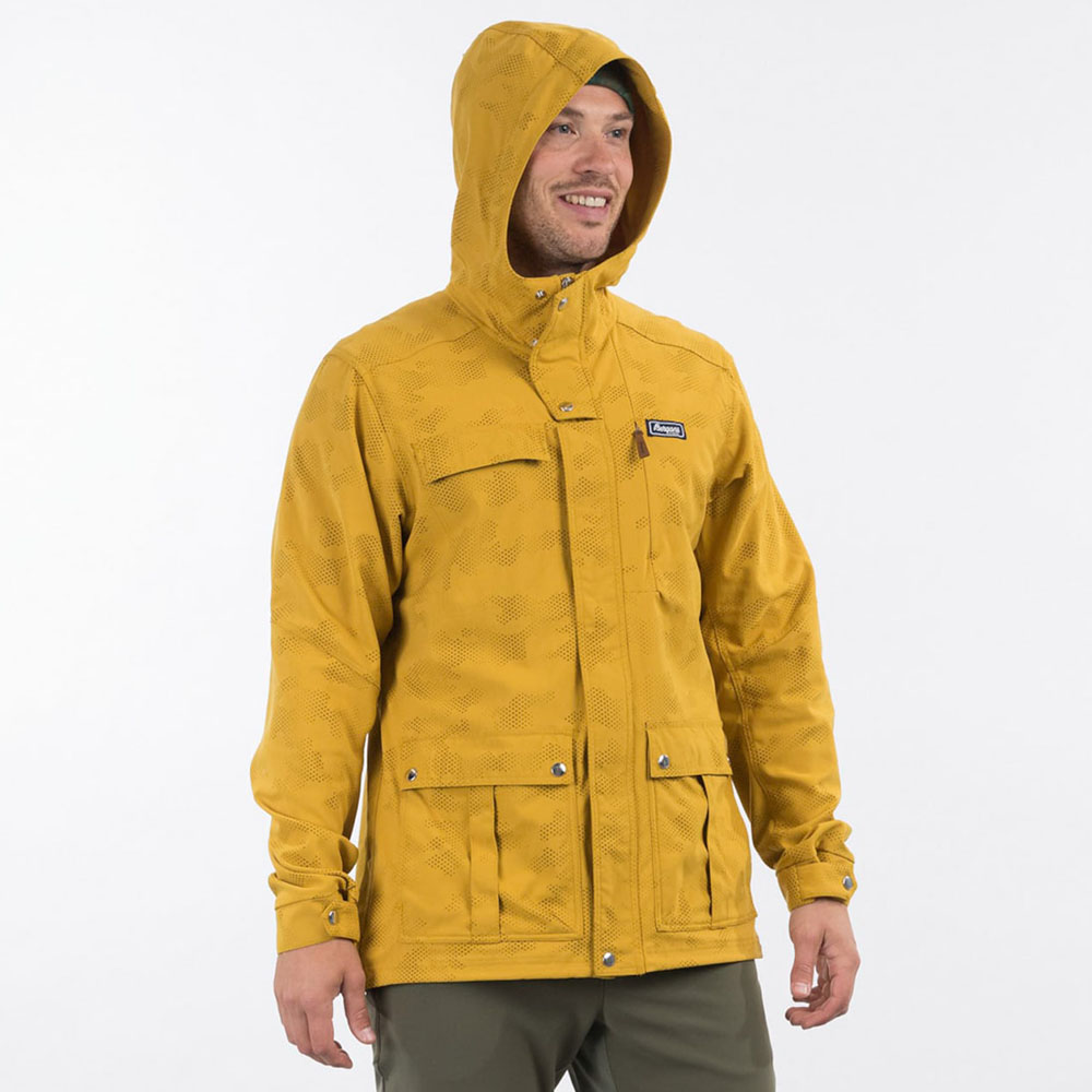 Качулка на мъжко яке Bergans Nordmarka Jacket Mustard Yellow Camo 2021