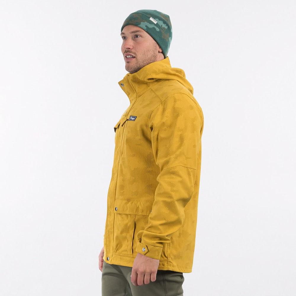 Профил на мъжко яке Bergans Nordmarka Jacket Mustard Yellow Camo 2021