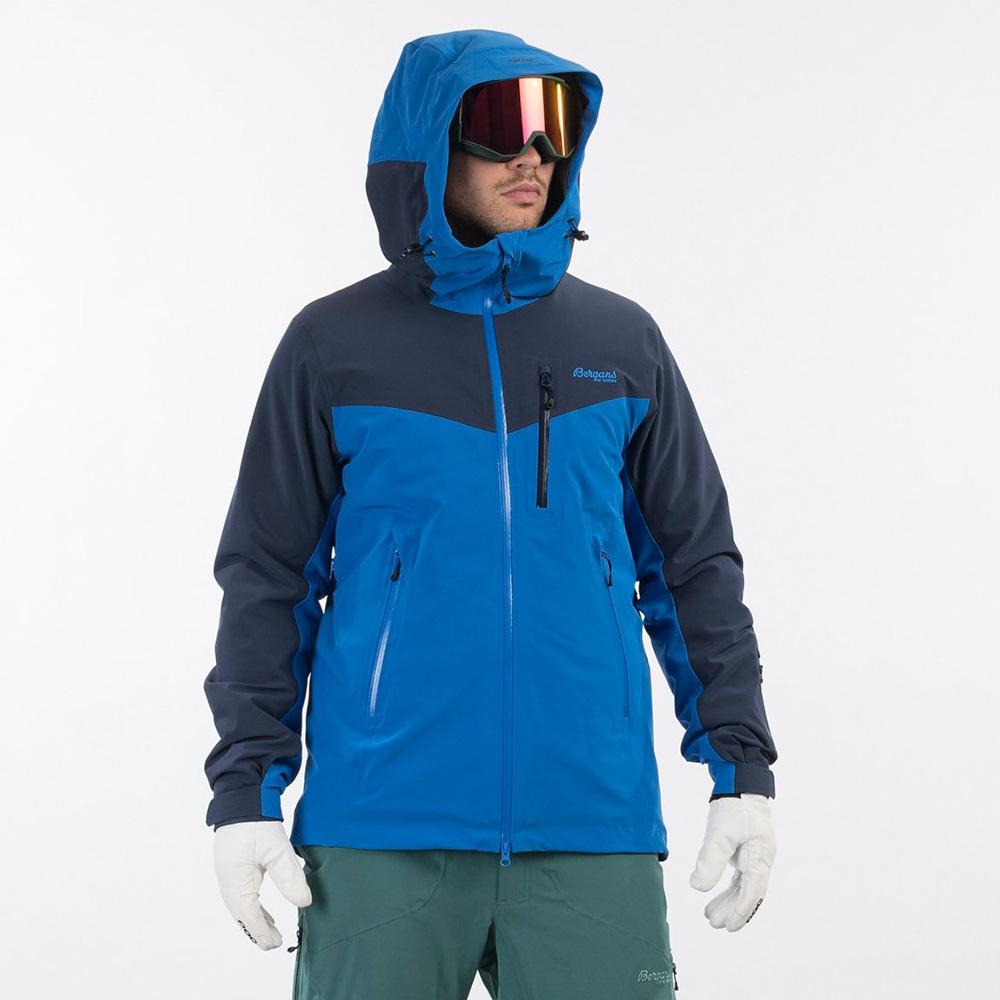 Мъжко хардшел ски яке Bergans Oppdal Insulated Jacket качулка с пристягане отзад и отстрани