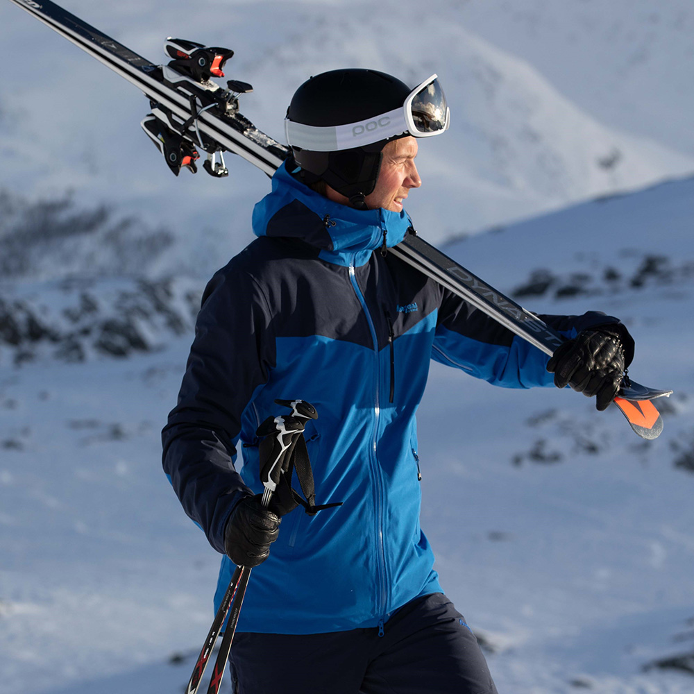 Мъжко хардшел ски яке Bergans Oppdal Insulated Jacket качулка отстрани