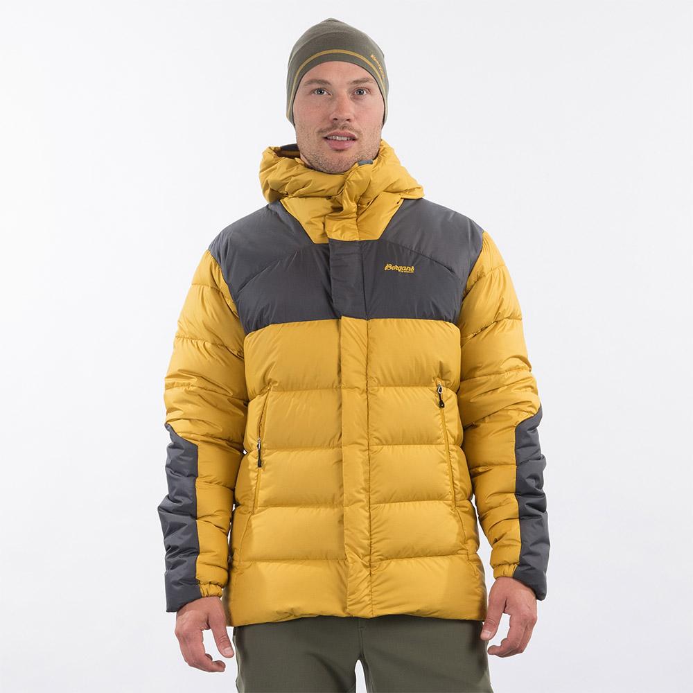 Лице на мъжко пухено яке Bergans Rabot 365 Down Jacket Mustard Yellow 2021