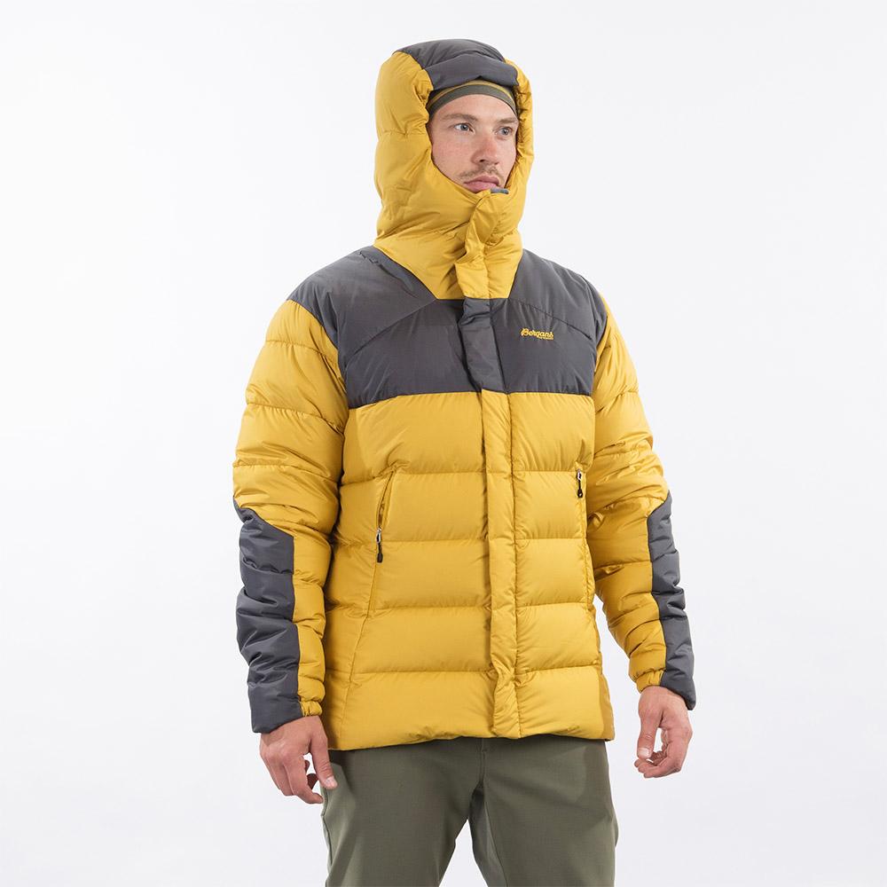 Качулка на мъжко пухено яке Bergans Rabot 365 Down Jacket Mustard Yellow 2021