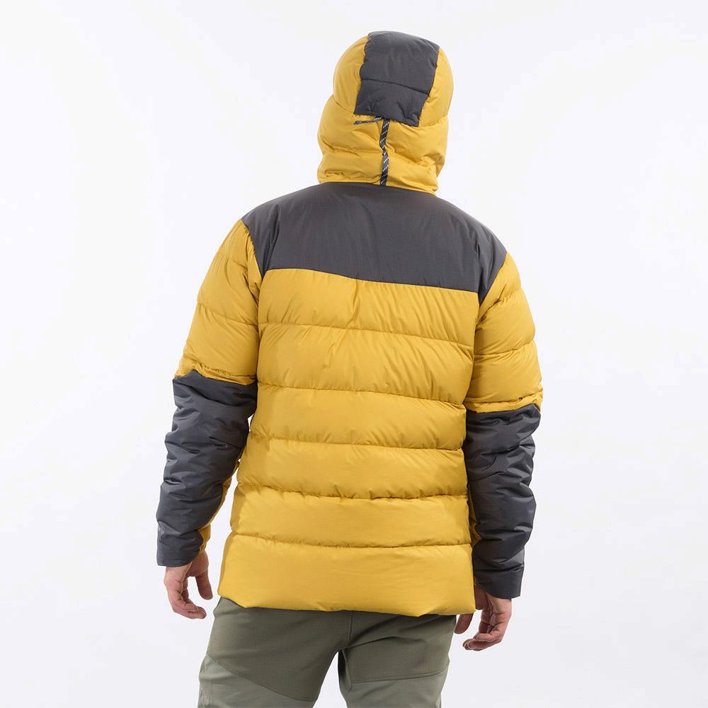 Гръб на мъжко пухено яке Bergans Rabot 365 Down Jacket Mustard Yellow 2021