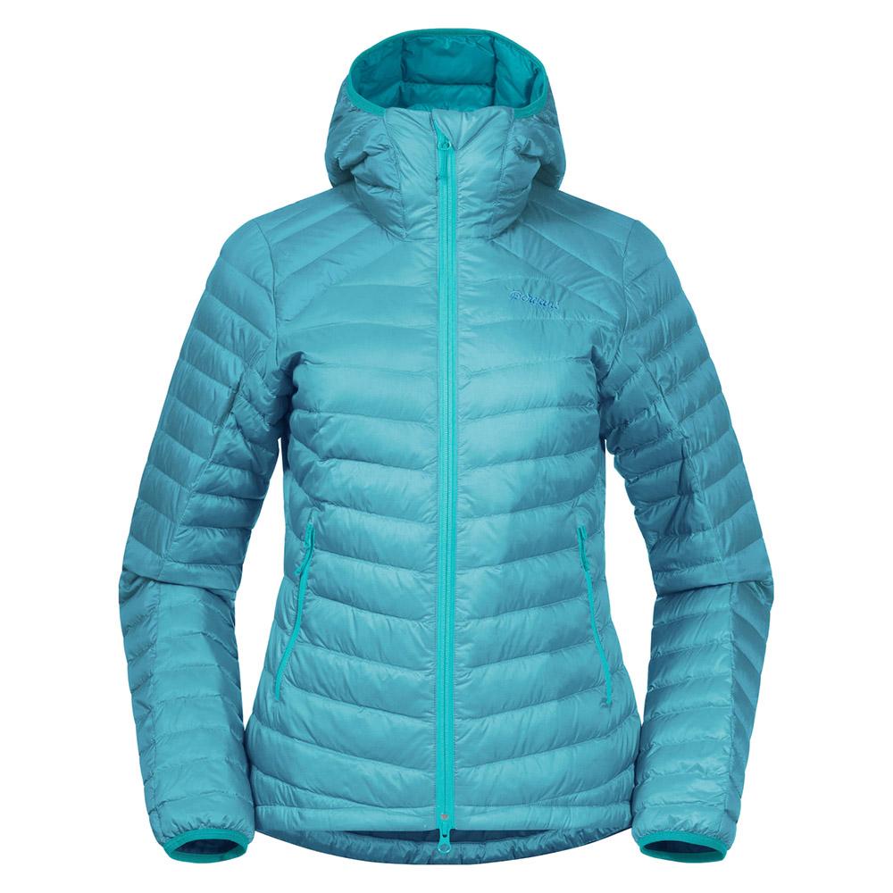 Дамско пухено яке Bergans Røros Down Light W Jacket w/Hood Light Glacier Lake 2021