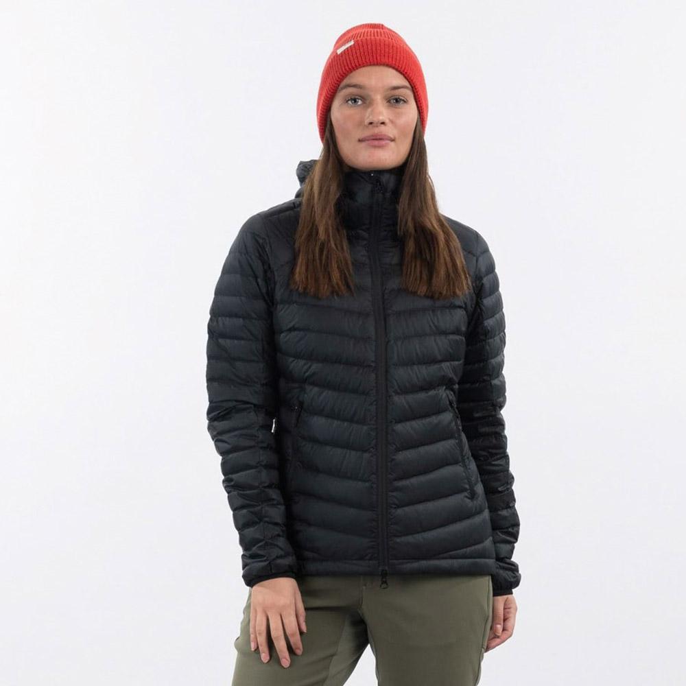 Лице на дамско пухено яке Bergans Røros Down Light W Jacket w/Hood Black