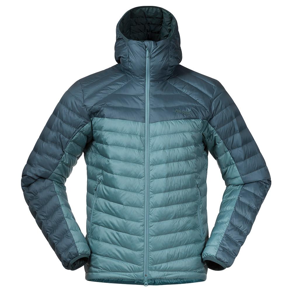 Мъжко пухено яке Bergans Røros Down Light Jacket w/Hood Light Forest Frost 2021