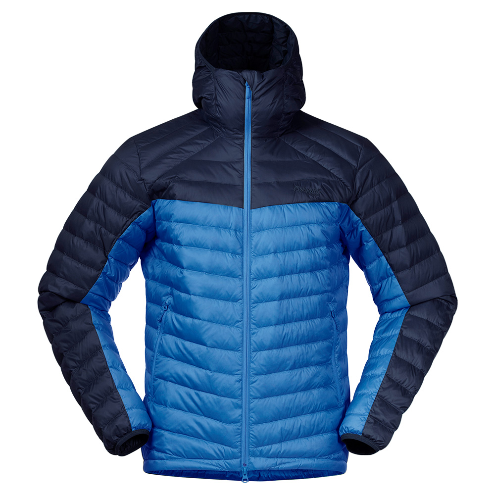 Мъжко пухено яке Bergans Røros Down Light Jacket w/Hood Strong Blue 2021