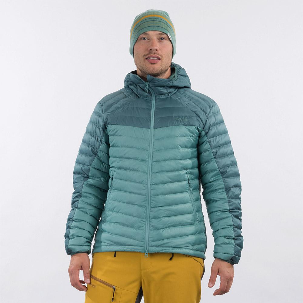 Лице на мъжко пухено яке Bergans Røros Down Light Jacket w/Hood Light Forest Frost 2021