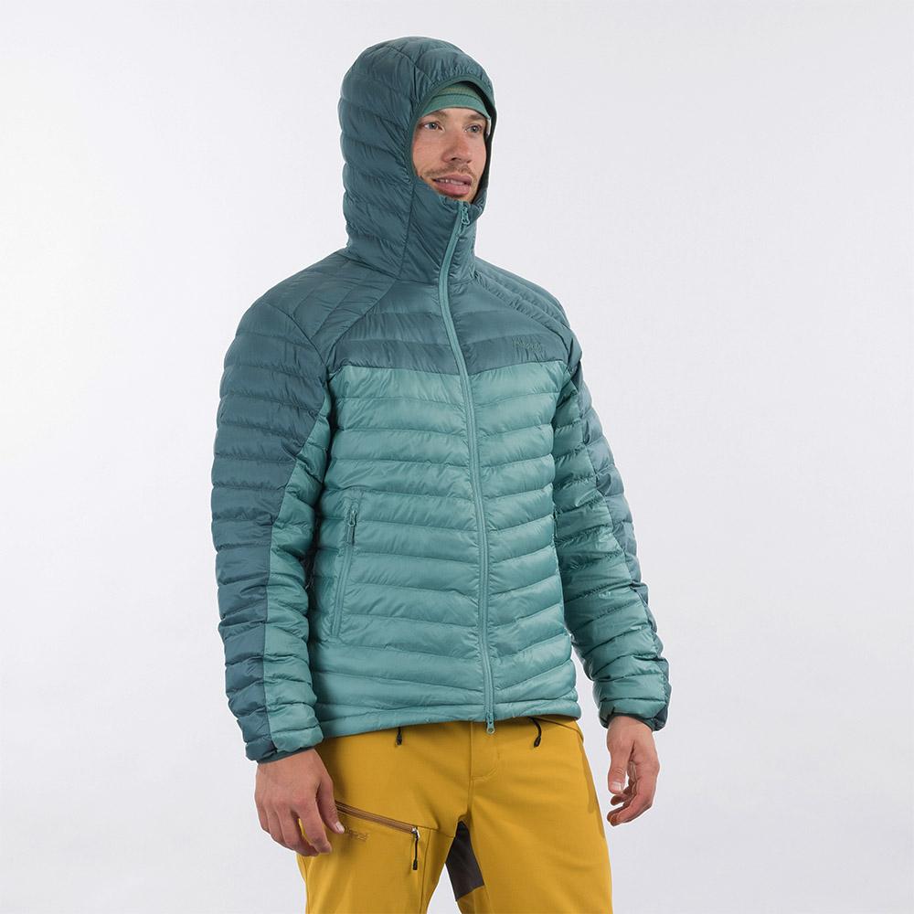 Качулка на мъжко пухено яке Bergans Røros Down Light Jacket w/Hood Light Forest Frost 2021