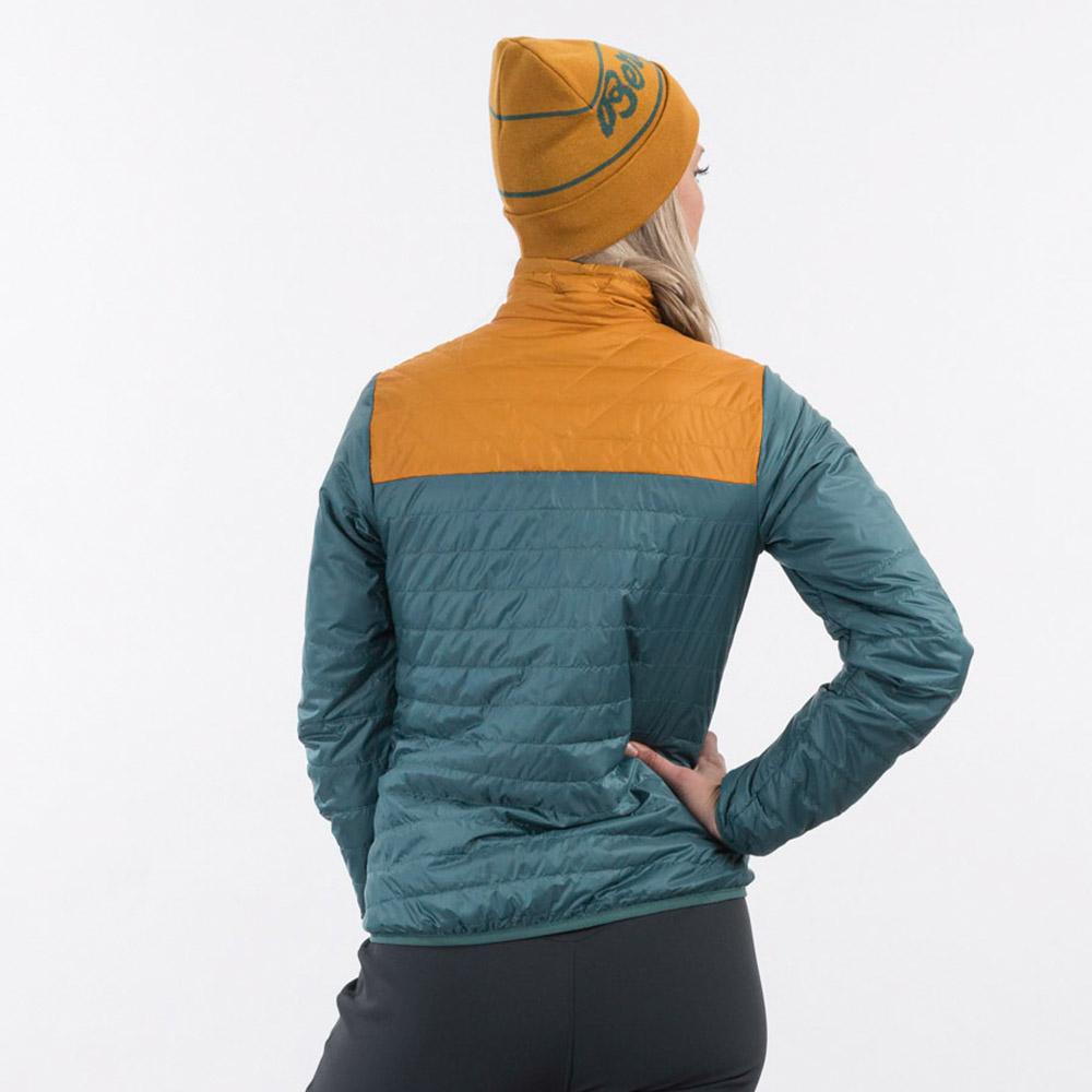 Гръб на дамско яке с изолация Bergans Røros Light Insulated W Jacket Forest Frost 2021