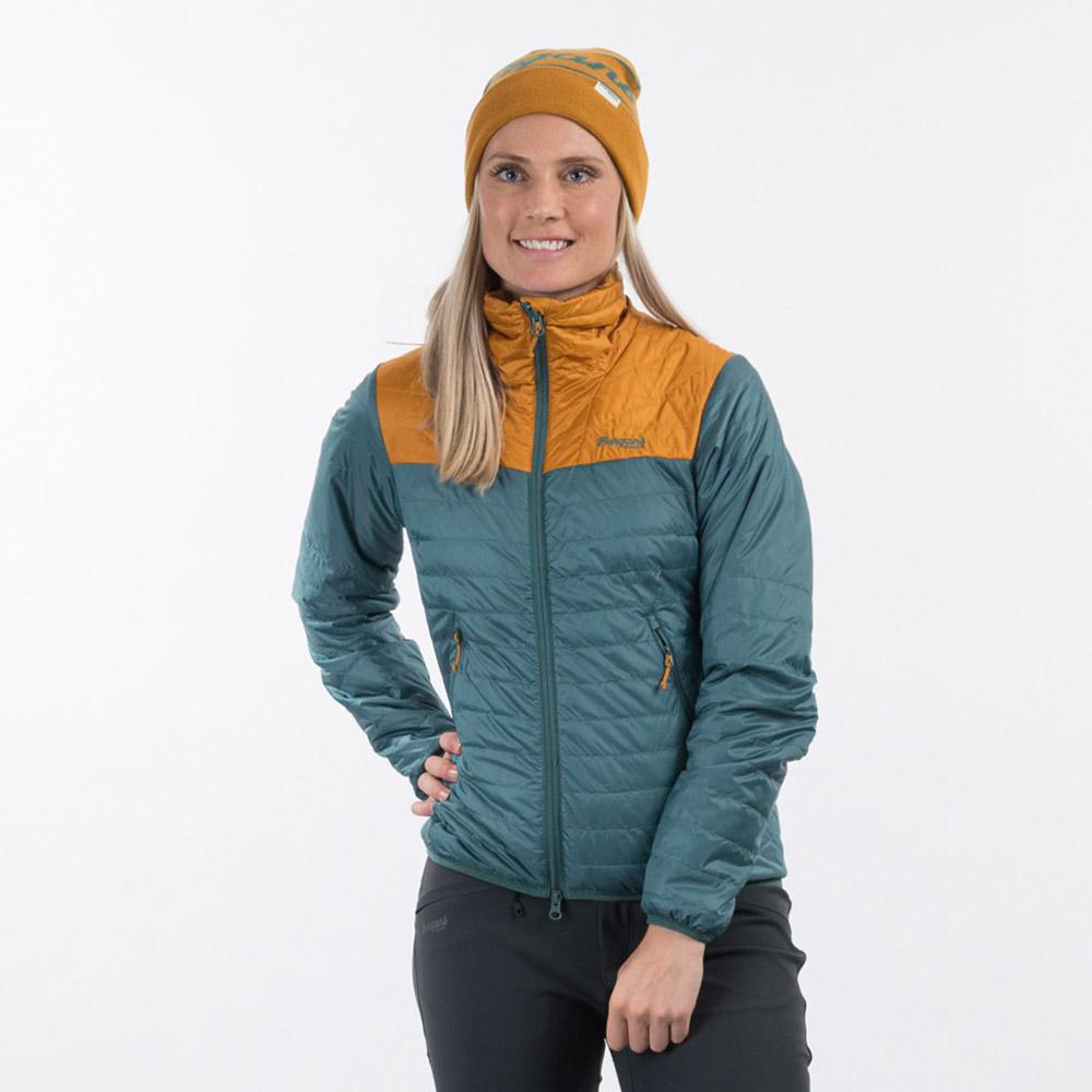 Лице на дамско яке с изолация Bergans Røros Light Insulated W Jacket Forest Frost 2021