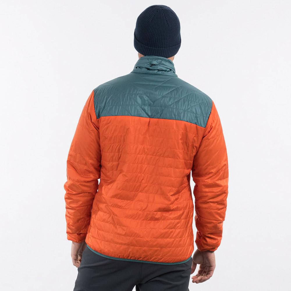 Гръб на мъжко яке с изолация Bergans Røros Light Insulated Jacket Bright Magma 2021