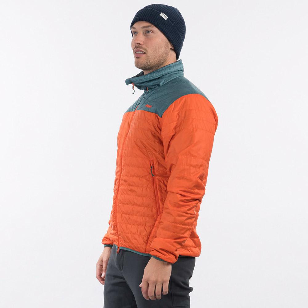 Профил на мъжко яке с изолация Bergans Røros Light Insulated Jacket Bright Magma 2021