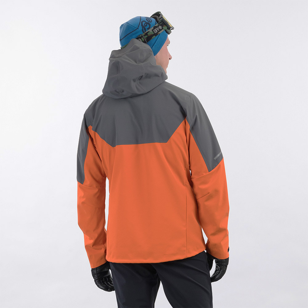 Гръб на мъжко софтшел яке Bergans Senja Hybrid Softshell Jacket Bright Magma 2021