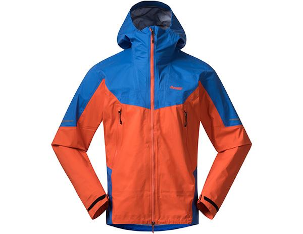 Мъжко хардшел яке Bergans Senja 3L Jacket Bright Magma / Strong Blue 2021