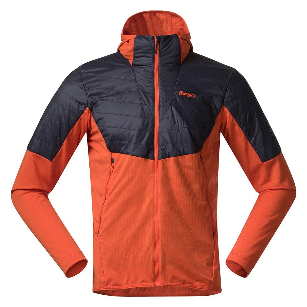 Мъжко яке с изолация Bergans Senja Midlayer Hood Jacket Bright Magma 2021